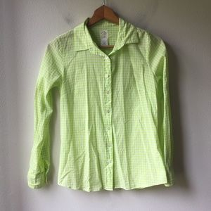 J. Crew Perfect Shirt in Mini-gingham